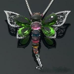 蕾帝兒珠寶-蜻蜓綠曜墜