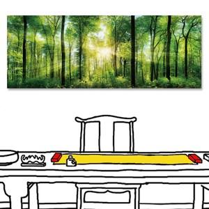 【24mama 掛畫】單聯式 油畫布 無框畫 80x30cm-森林之歌