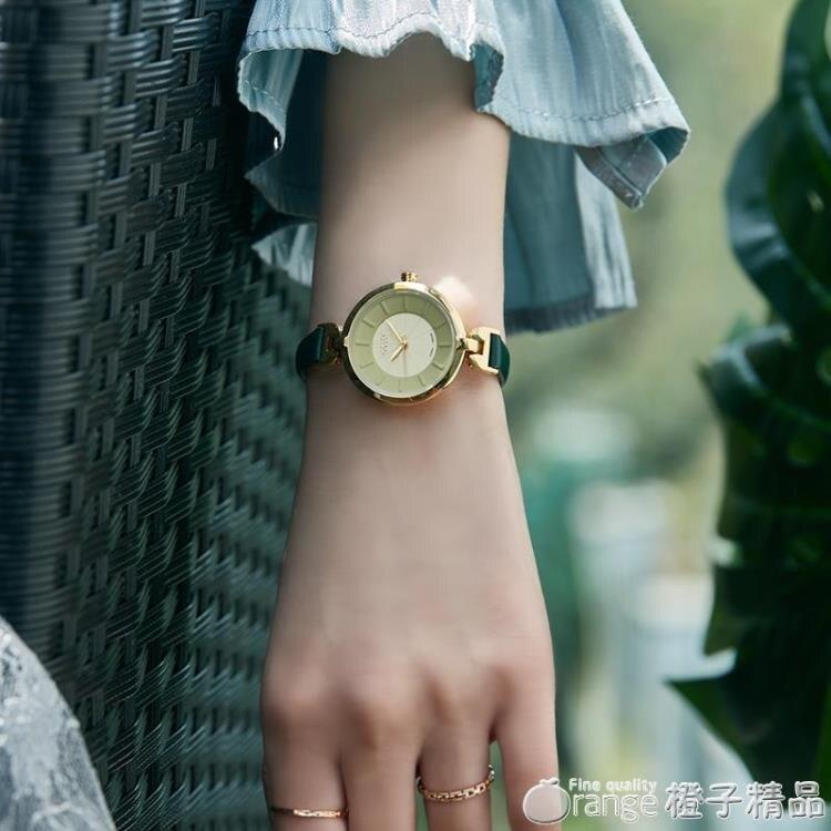 聚利時手表女時尚女學生簡約氣質小表盤女士細皮帶石英手表ins風