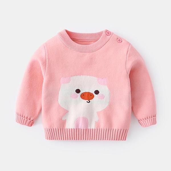 嬰兒毛衣秋冬嬰幼兒線衣兒童套頭冬裝女童秋裝0一1歲寶寶針織衫男 小山好物