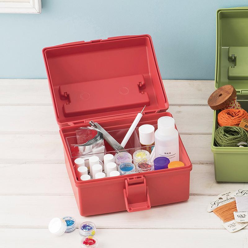 HACOTTO 方形多功能PP手提式收納工具箱-4色可選 湖水藍