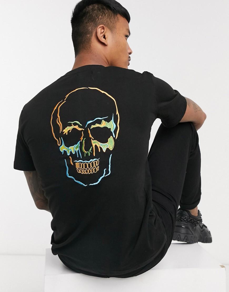 Bolongaro Trevor melting skull t-shirt-Black