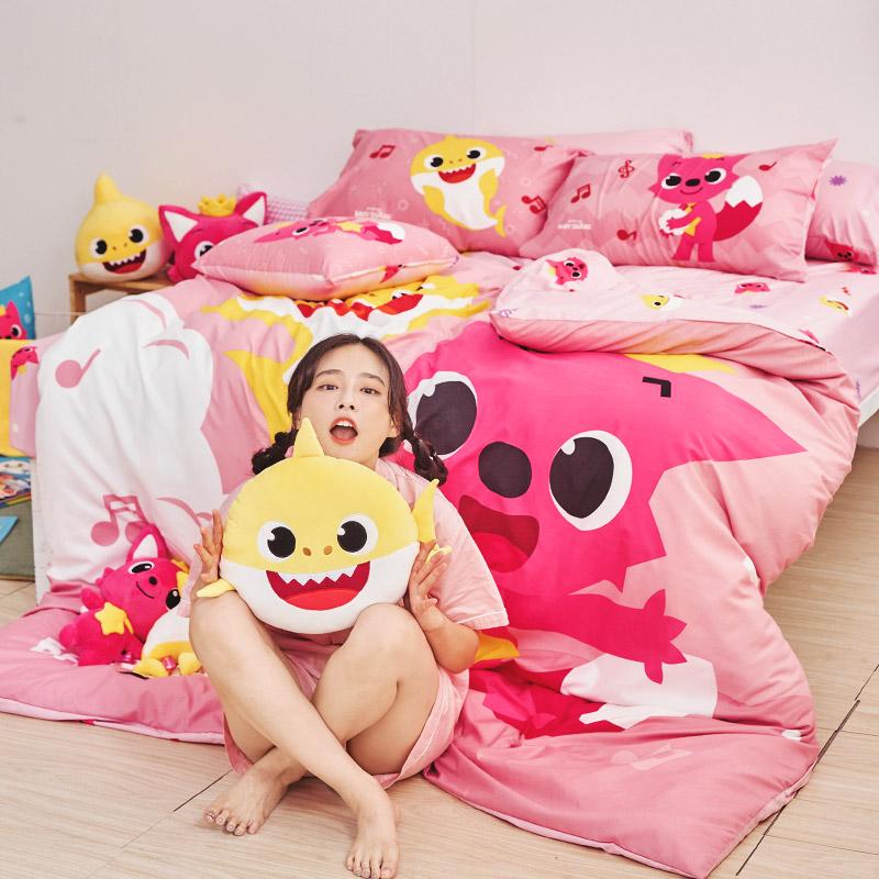 床包兩用被套組 / 雙人【碰碰狐 歡樂唱跳】含兩件枕套 碰碰狐&鯊魚寶寶 Pinkfong BABY SHARK 獨家 戀家小舖 台灣製 618購物節 在家上班推薦