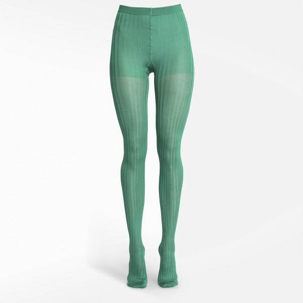 Prada Green ribbed tights