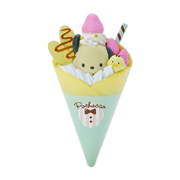 小禮堂 帕恰狗 食物造型磁鐵 塑膠磁鐵 冰箱磁鐵 吸鐵 (綠米 超市文具) 4550337-73762