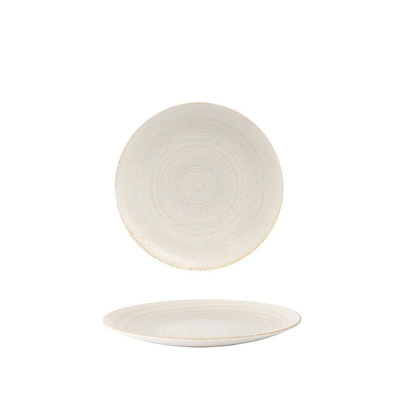 E.C.O.大地系列-25.5CM餐盤-珍珠白