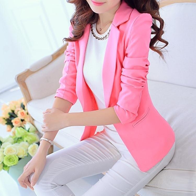 紐斯雅2020春秋新款韓版修身顯瘦長袖小西裝外套女士休閒百搭西服 小山好物