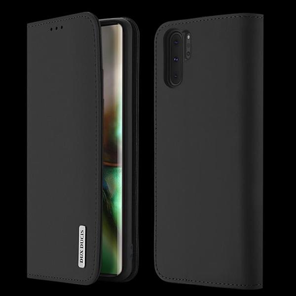 Dux Ducis 三星Note 10 Plus 手機殼 奢華真皮錢包款翻蓋皮套 三星 Note10 磁吸保護殼支架插卡