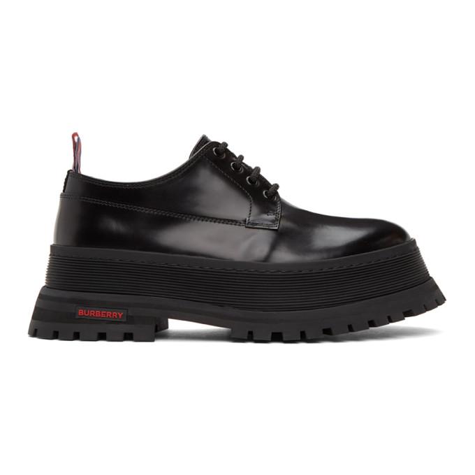 Burberry 黑色 Jefferson Chunky 德比鞋