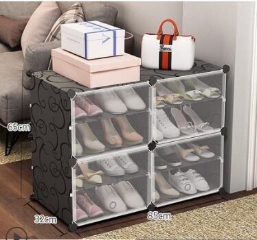 鞋架 簡易鞋櫃經濟型防塵多層組裝家用省空間門口小鞋架簡約現代門廳櫃