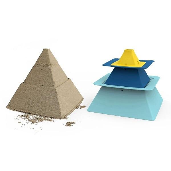 【比利時 Quut】金字塔模型組|沙灘玩具