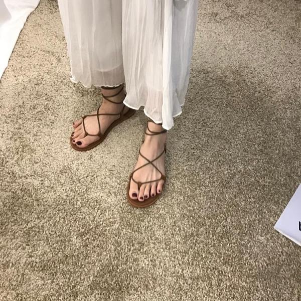 羅馬鞋系帶綁帶平底鞋