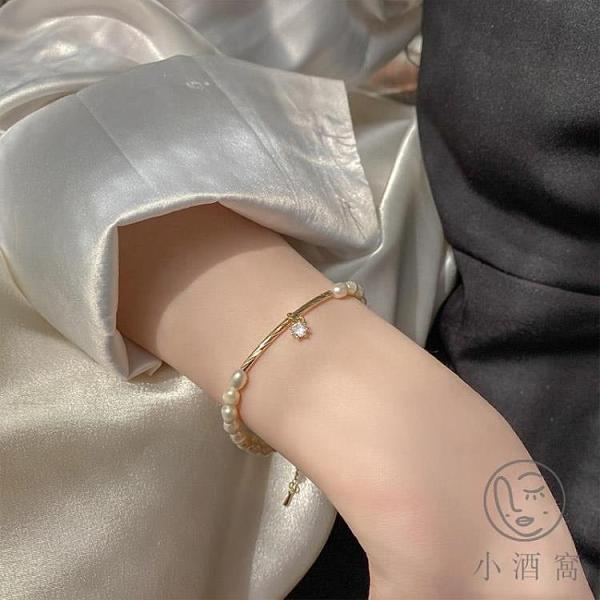 氣質手飾珍珠手鍊手串簡約百搭閨蜜【小酒窝服饰】