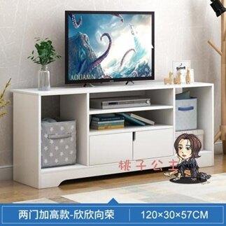 電視櫃 組合牆櫃現代簡約電視桌子小戶型簡易高款臥室家用電視機櫃T
