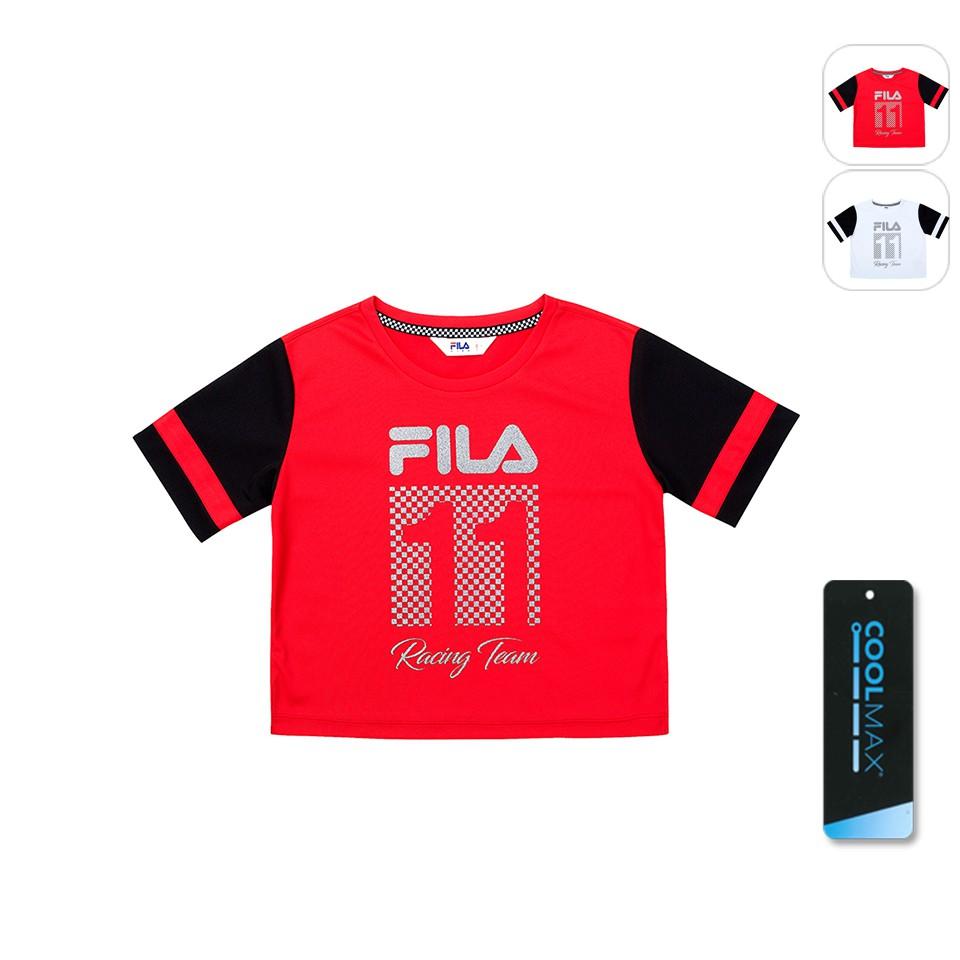 【FILA】KIDS 孩童款 吸排上衣-紅色 5TET-4459-RD
