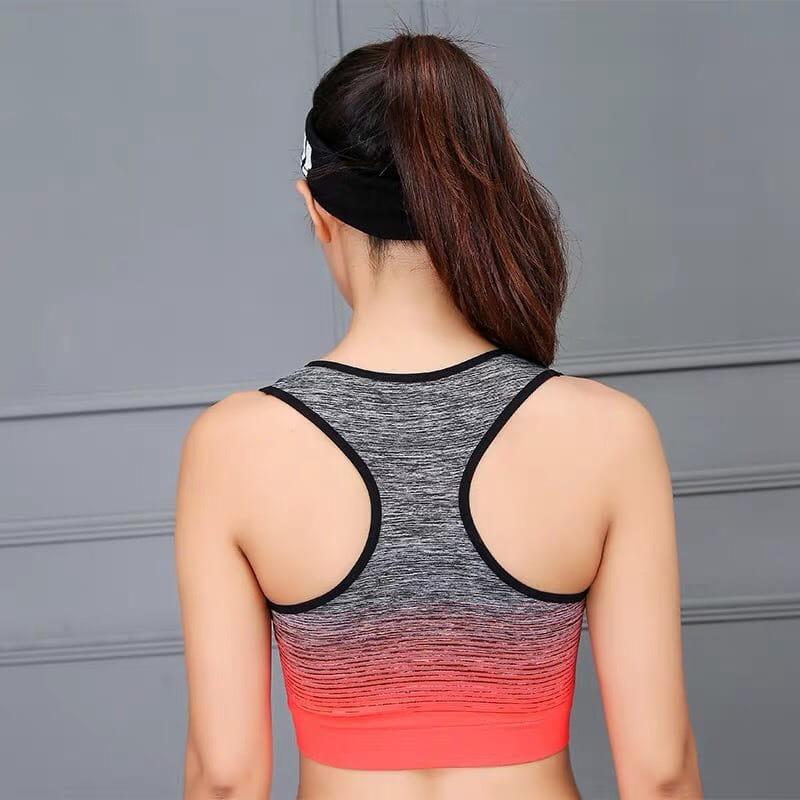 運動連帽外套漸層提花韻律有氧跑步瑜珈-KOI