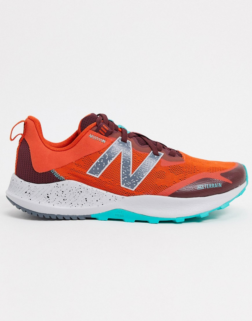 New Balance Running Nitrel Trail trainers in orange