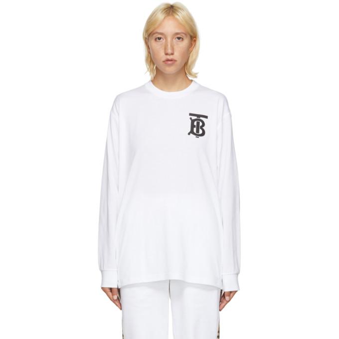 Burberry 白色 TB Monogram Atherton 套头衫