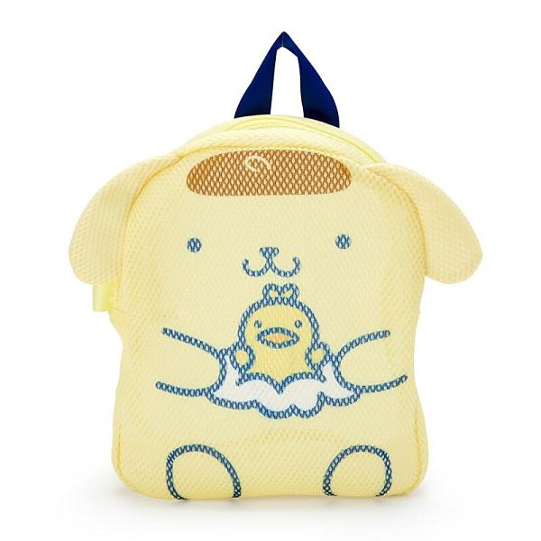 小禮堂 布丁狗 造型手提網狀洗衣袋 洗衣網袋 護洗袋 手提網袋 (黃藍 牛奶泡泡浴) 4550337-38664