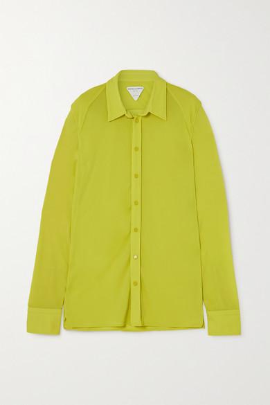 Bottega Veneta - 平纹布衬衫 - 亮黄色 - IT42