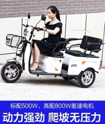 電動三輪車成人新款代步車家用小型帶棚老人電瓶車接送孩子  七色堇 新年春節送禮