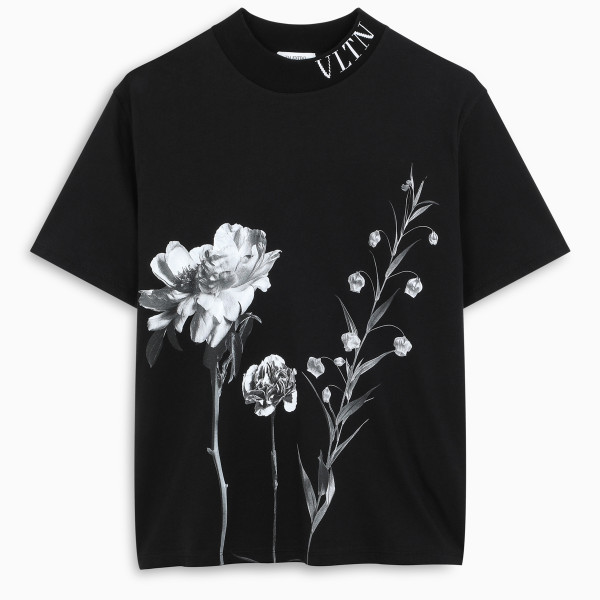 Valentino Black Flowersity t-shirt