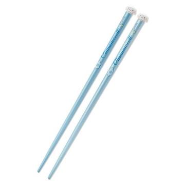 大耳狗 立體大臉造型天然木筷子《藍》19.5cm.竹筷.環保筷.2020新生活