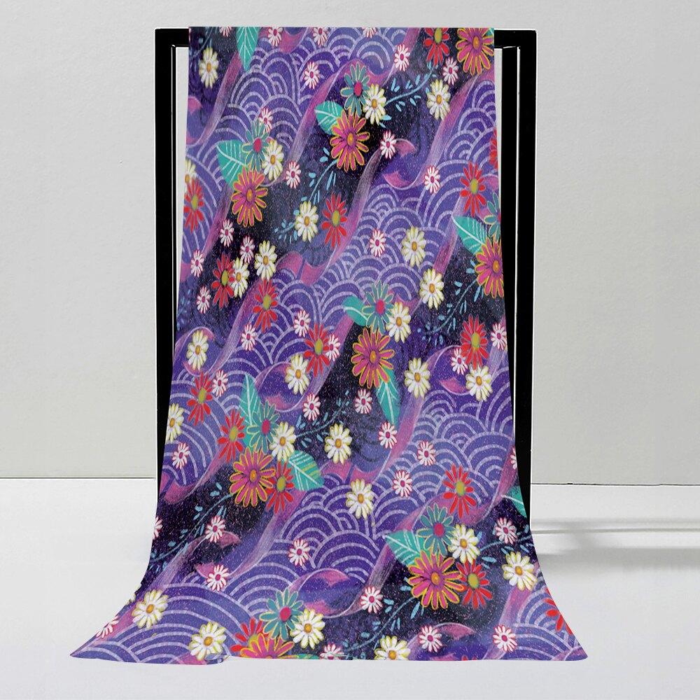 仿真絲 絲巾146cm*180cm 設計師商品