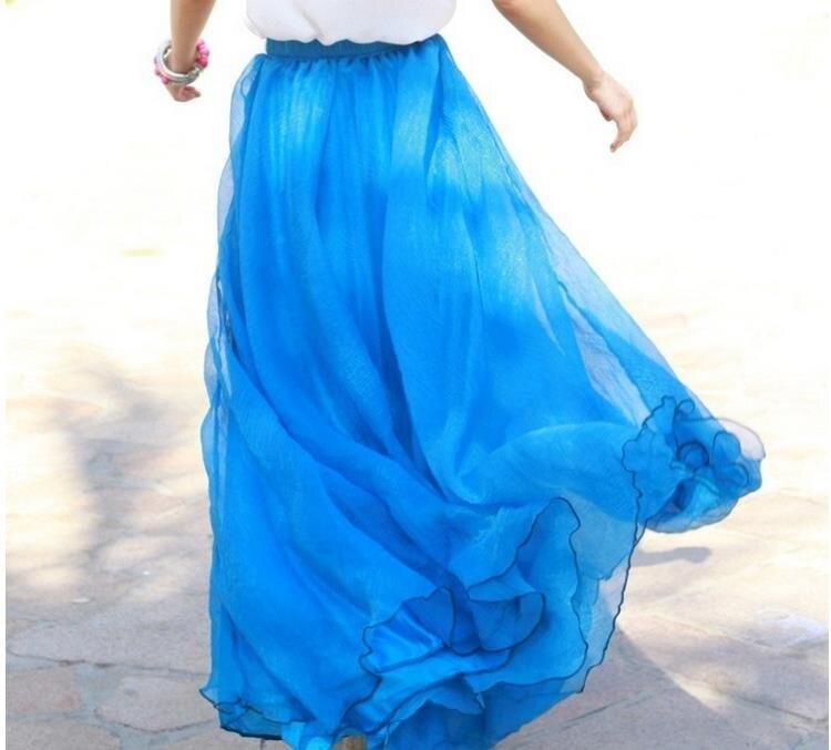 洋裝 沙灘裙2020春夏新款大擺裙波西米亞長裙沙灘裙蓬蓬裙子女裙夏雪紡半身裙 全館限時8.5折特惠!