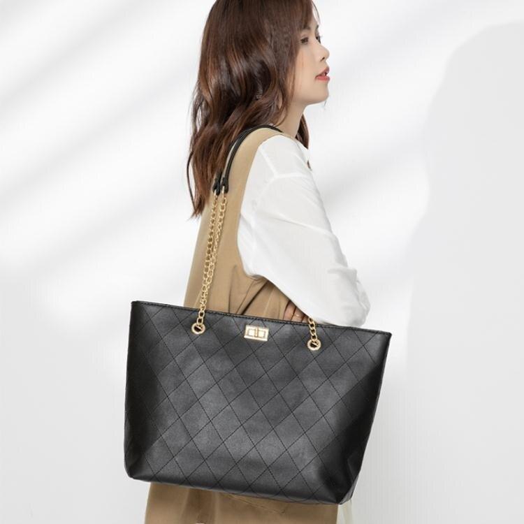 單肩包包包女大容量2020新款潮韓版簡約百搭高級感手提單肩大包包托特包