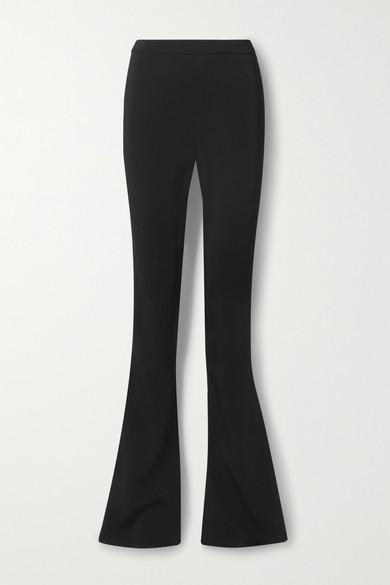 Cushnie - 弹力绉纱喇叭裤 - 黑色 - US4