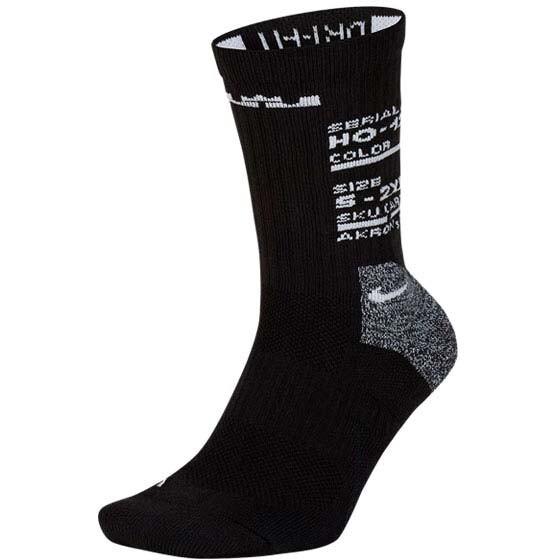 nike lebron elite 男女中筒襪-襪子 長襪 dri-fit 黑白