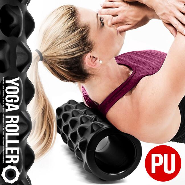 頂級pu高回彈33cm瑜珈滾輪   短版中空瑜珈柱  c113-5225