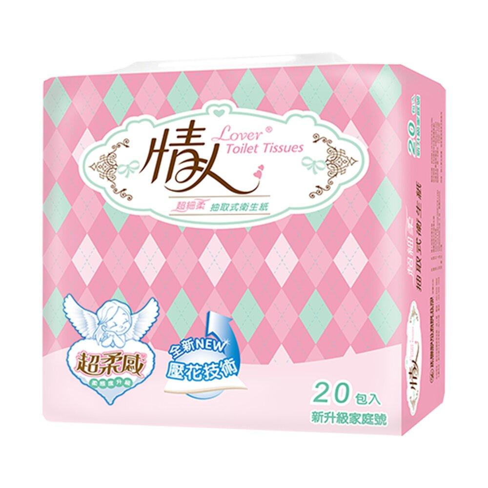 【情人】抽取式衛生紙100抽x20包x3串/箱