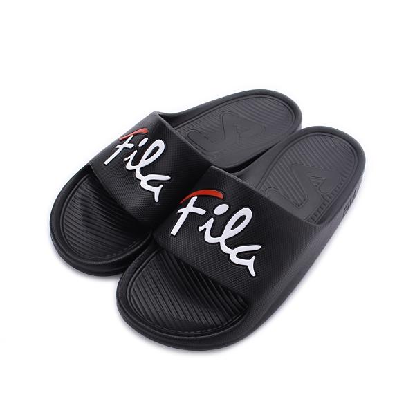 FILA 草書標誌運動拖鞋 黑 4-S326U-001 男鞋