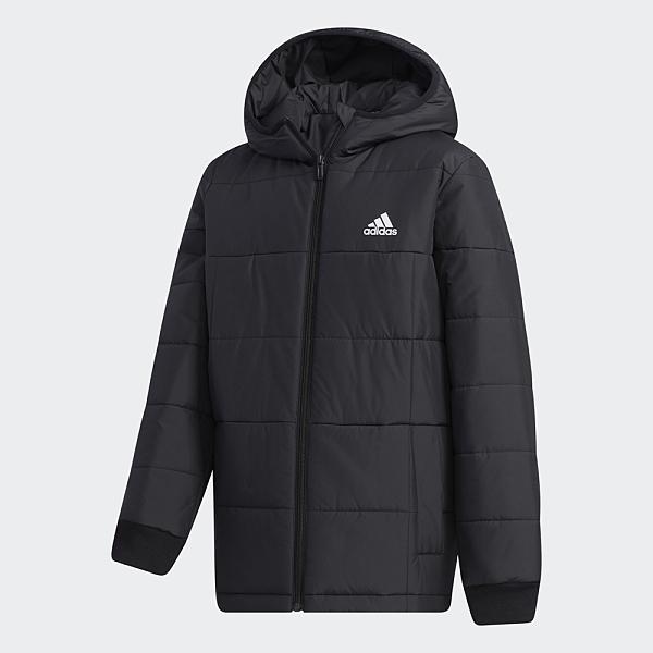 ADIDAS MIDWEIGHT PADDED 童裝 大童 鋪棉外套 連帽 休閒 保暖 黑【運動世界】GL5211