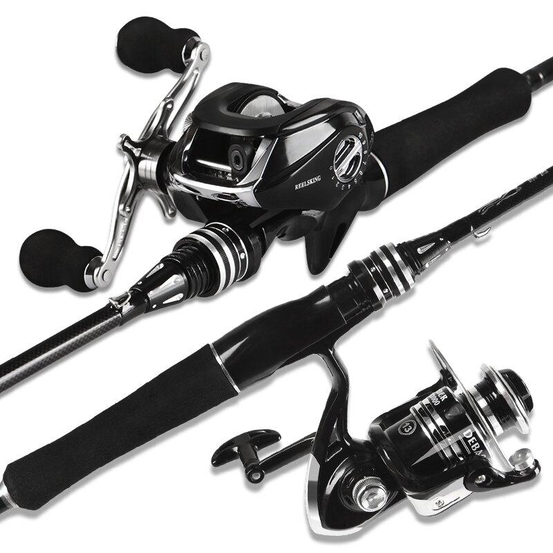 路亞竿套裝水滴輪碳素槍柄直柄釣魚竿海竿拋