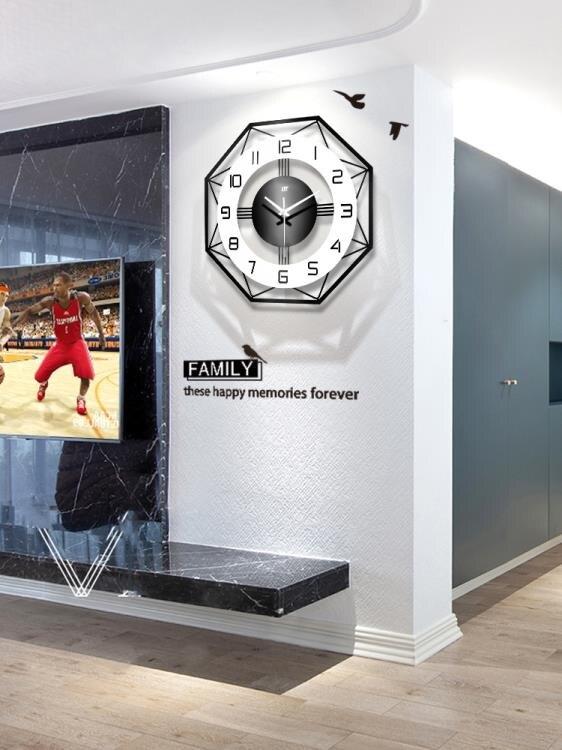 掛鐘 現代簡約鐘錶掛鐘客廳個性創意時尚北歐時鐘家用錶掛墻大氣石英鐘