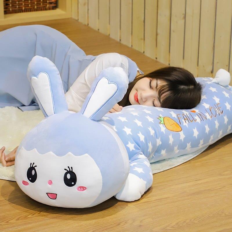 兔子毛絨玩具睡覺抱枕超軟床上可愛布娃娃公