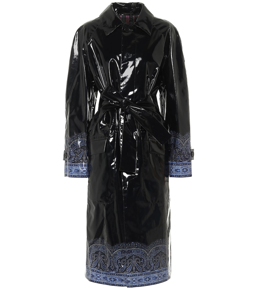 Exclusive to Mytheresa - Paisley coated canvas trench coat