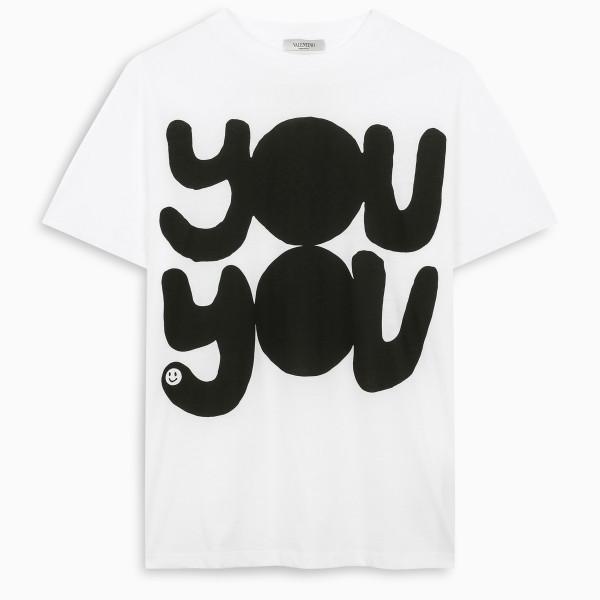 Valentino White YOU YOU t-shirt