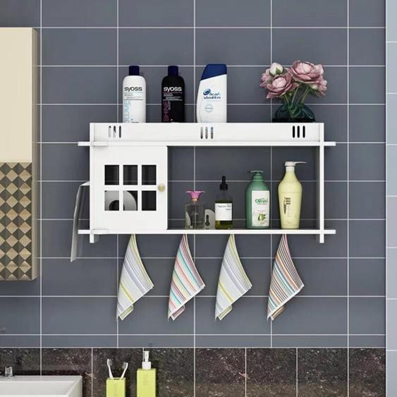 免打孔浴室衛生間置物收納2柜 無痕吸盤式洗手間衛浴廁所儲物x 衛全館促銷限時折扣