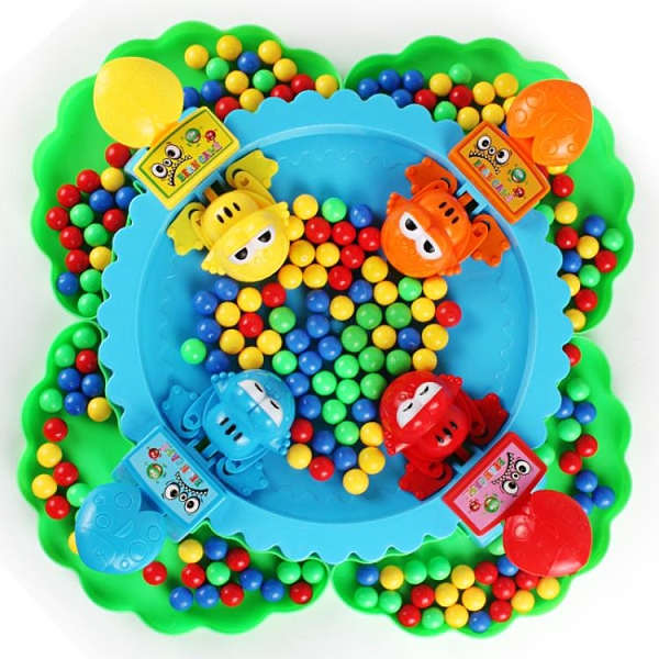 青蛙吃豆玩具兒童親子對戰桌面益智互動貪吃青蛙搶豆【福喜行】