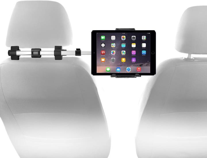 【美國代購】Macally Mac車載頭枕安裝架 適用於Apple iPad Pro / Air / Mini 平板電腦 銀色