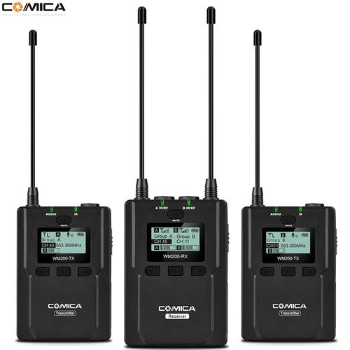 COMICA WM200A 全金屬無線麥克風 (一對二)