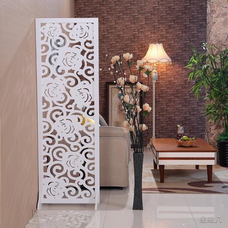 [樂天優選]屏風隔斷客廳簡約現代小戶型折疊簡易移動雙面雕花鏤空玄關裝飾墻