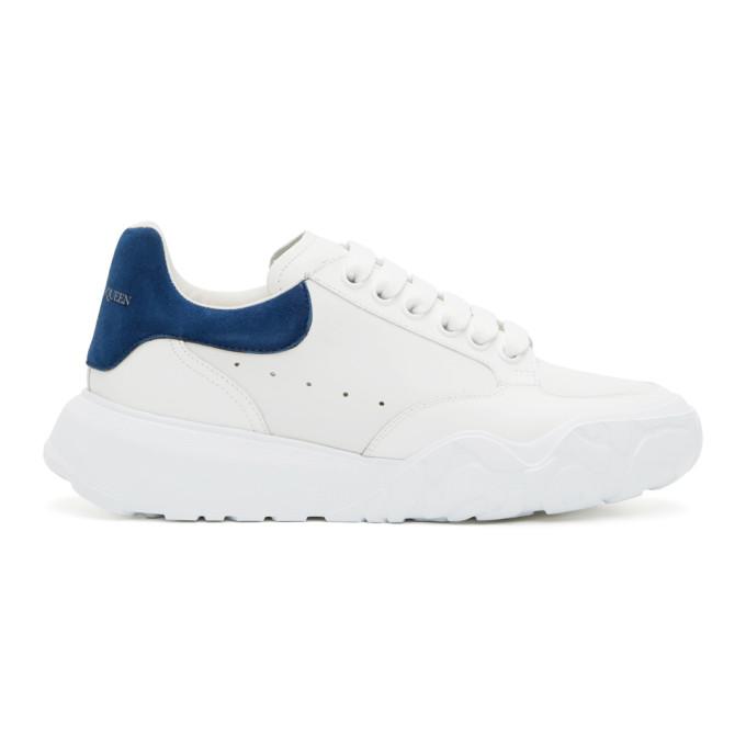 Alexander McQueen 白色 and 蓝色阔型运动鞋