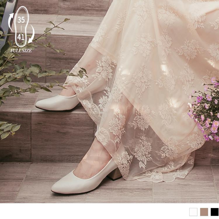 台灣製造.氣質尖頭皮革木紋高跟質感鞋