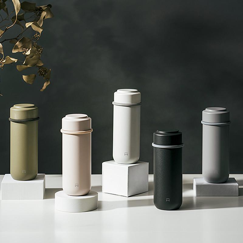 JIN真瓷系列-輕量隨行陶瓷保溫瓶260ML(5色) 軍綠