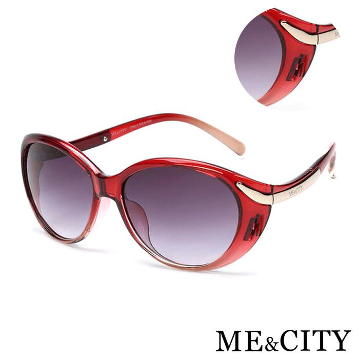 母親節特惠me&city 歐美流線型漸層太陽眼鏡 義大利設計款 抗uv(me 1200 e01)